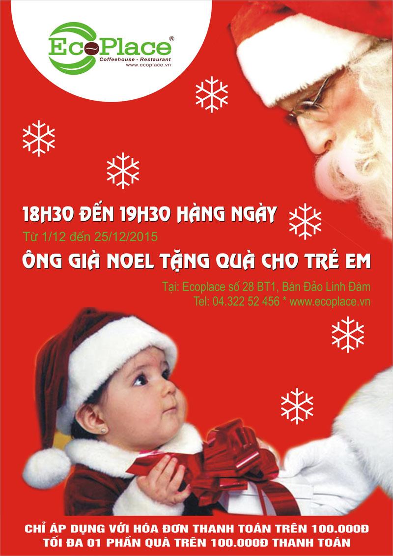 Tặng quà cho trẻ em dịp Noel